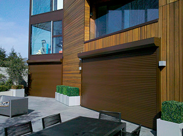 Image of our roller shutters on a Sydney home