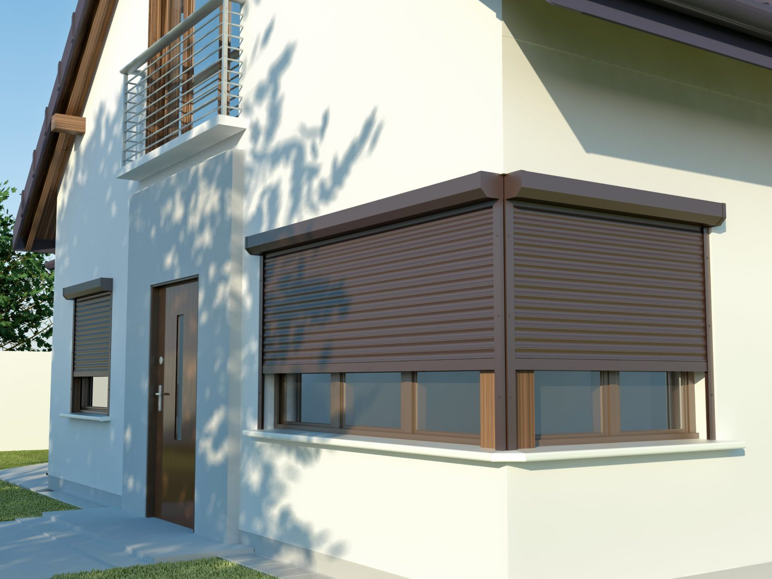 Roller Shutters Visual, Mental and Physical Presence Deters Intruders and Increases Home Security