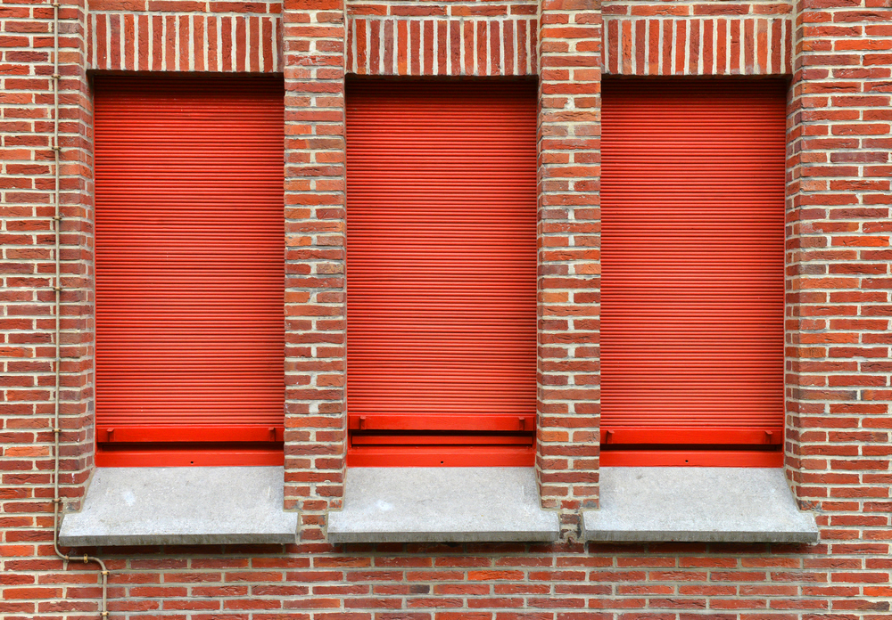 3 Red Roller Shutters - Roller Shutter People
