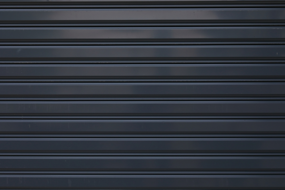 Black Roller Shutter Door Close Up - Roller Shutter People