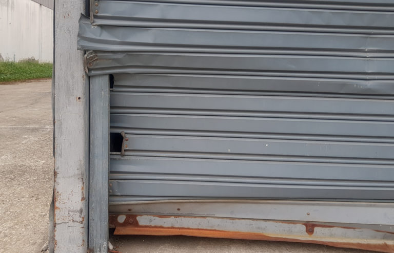 Common Roller Shutter Problem 6 Dents Damage - Roller Shutter People