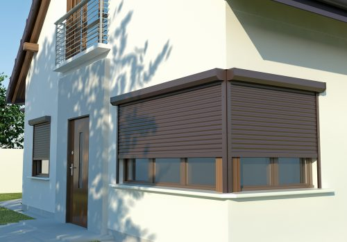 Modern Brown Roller Shutters - Roller Shutter People
