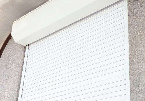 White Roller Shutters Close Up - Roller Shutter People